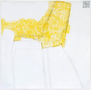 drawing + yellow by Kristin Stephenson (Hollis) contemporary artwork