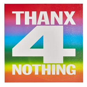 THANX 4 NOTHING by John Giorno contemporary artwork