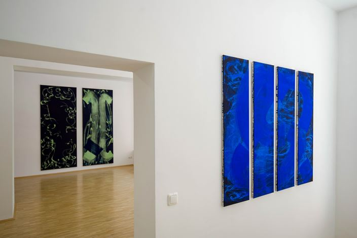 Exhibitition view: Claudia Hirtl, Bilder, Susan Boutwell Gallery, Munich (13 September–9 November 2019). Courtesy Susan Boutwell Gallery. Photo: Daniel Zanetti.