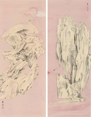 Elegant Offering Series No. 9 and No. 10 by Luo Ying contemporary artwork