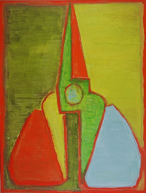 Upright Red-green Scissors by Mao Xuhui contemporary artwork