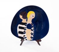 Couple by Kirsa Andreasen contemporary artwork sculpture, ceramics