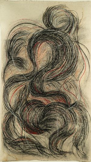 Hair Warp - Travel Through Strand of Universe by Ashmina Ranjit contemporary artwork
