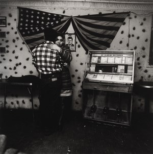 Untitled [Couple Dancing Near Juke Box with Flag and JFK], East 100th St. by Bruce Davidson contemporary artwork