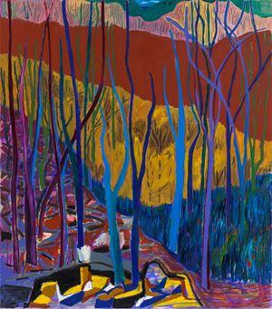 The Natural Fences by Shara Hughes contemporary artwork