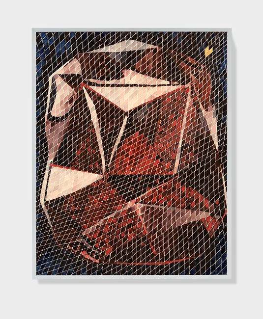 Traces VIII (Baccarat Red) by Timothy Hyunsoo Lee contemporary artwork