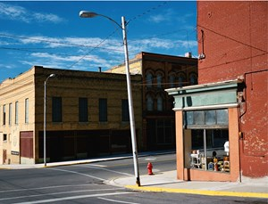 Street Corner in Butte, USA, Montana by Wim Wenders contemporary artwork