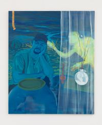 Blue DayDream (Shikeith in Blue) by Dominic Chambers contemporary artwork painting