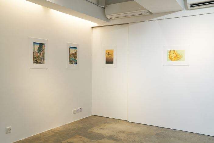 Installation view: Group exhibition, Design + Contemporary Art in Ukiyo-e, SHOP Taka Ishii Gallery, Hong Kong (22 May–19 July 2020). Courtesy SHOP Taka Ishii Gallery, Hong Kong. Photo: Anthony Kar-Long Fan.