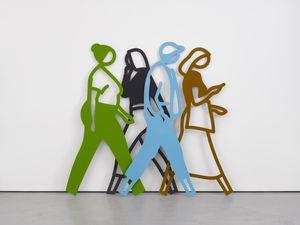 Summer 2. by Julian Opie contemporary artwork sculpture
