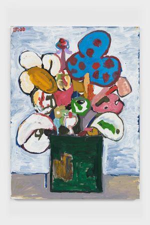 BAP Flower 6 (Clown Positive) by Eddie Martinez contemporary artwork