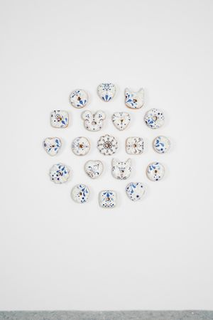 Bling Bling Special White Donuts Set by Jae Yong Kim contemporary artwork sculpture