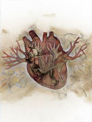 Entanglement Hearts - Cave by Maki Ohkojima contemporary artwork