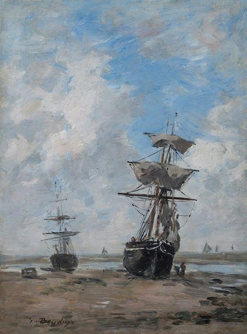 Voiliers, marée basse by Eugène Boudin contemporary artwork