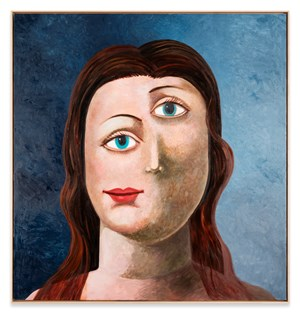 Large Female Portrait by George Condo contemporary artwork