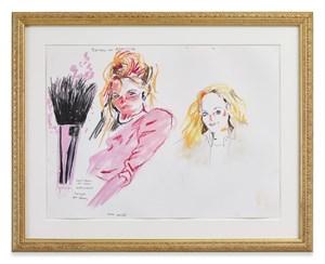 Makeup brush belonging to Baroness von Maquiriche by Karen Kilimnik contemporary artwork