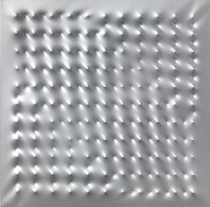 Superficie alluminio by Enrico Castellani contemporary artwork