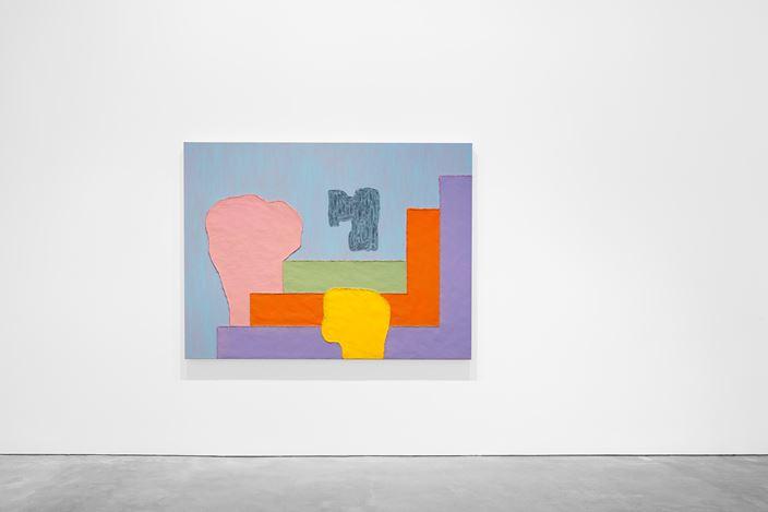 Exhibition view: Jonathan Lasker, Recent Paintings, Galerie Thomas Schulte, Berlin (26 April–29 June 2019). ©Jonathan Lasker.Courtesy Jonathan Lasker and Galerie Thomas Schulte.Photo: hiepler, brunier,