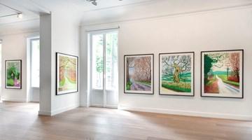Contemporary art exhibition, David Hockney, The Arrival of Spring in Woldgate at Galerie Lelong & Co. Paris, 13 Rue de Téhéran, Paris
