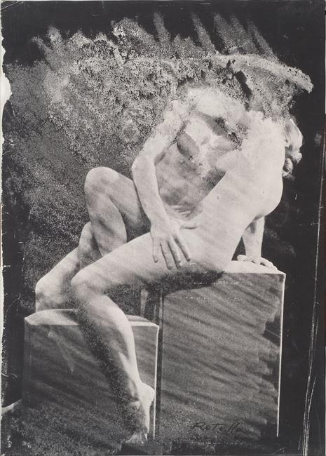 L'amplesso by Mimmo Rotella contemporary artwork