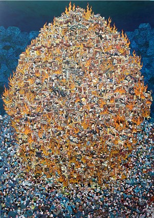 Hive by Yoga Mahendra contemporary artwork