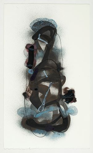 Totem 1 by Manisha Parekh contemporary artwork works on paper, drawing
