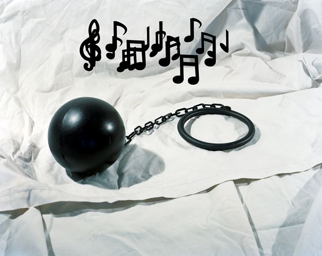 Another Ball and Chain Music by Lucas Blalock contemporary artwork