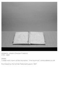 Apokryphen (Hölderlin, Brieftasche) by Ricarda Roggan contemporary artwork print