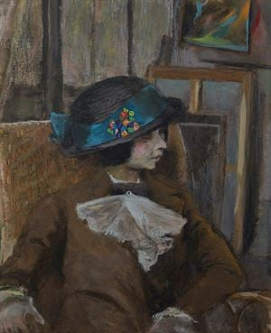 Le petit modèle au chapeau bulgare by Edouard Vuillard contemporary artwork