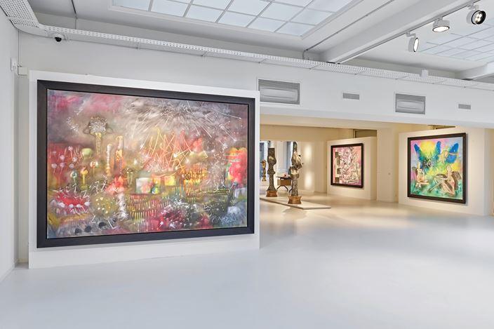 Exhibition view: Roberto Matta, Marcel Duchamp, MATTA | DUCHAMP, Galerie Gmurzynska, Zurich (21 November 2018–21 March 2019). Courtesy Galerie Gmurzynska.