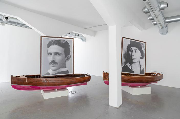 Exhibition view:Braco Dimitrijević,Traveling to Post History, M77, Milan (11 June–28 September 2019). Courtesy M77. Photo: Lorenzo Palmieri.
