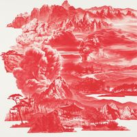 Between Red–016JUL03 by Lee Seahyun contemporary artwork painting