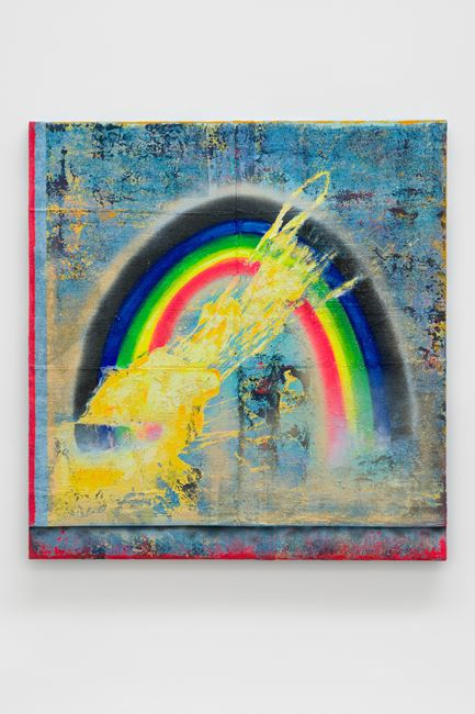 Exploded Rainbow (disappearing act) by Vaughn Spann contemporary artwork
