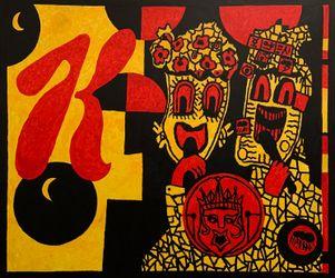 Derek Boshier,K Pop: King of Mask Singers(2020). © Derek Boshier. Courtesy Gazelli Art House, London.