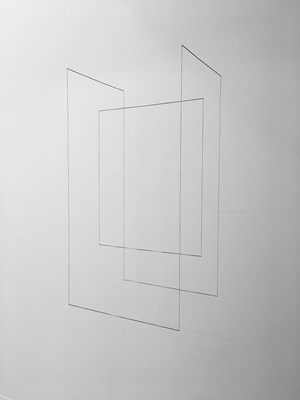 Line Sculpture (cuboid #16) by Jong Oh contemporary artwork