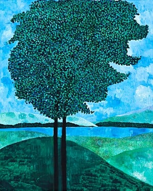 two trees by Sally Ross contemporary artwork