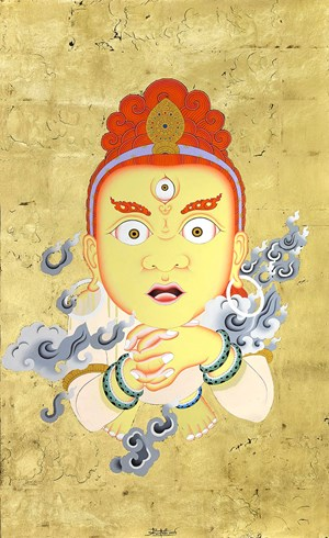 Spirit Unlimited (Yellow) by Tsherin Sherpa contemporary artwork