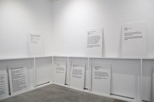 Memorial to Lost Words by Bani Abidi contemporary artwork installation
