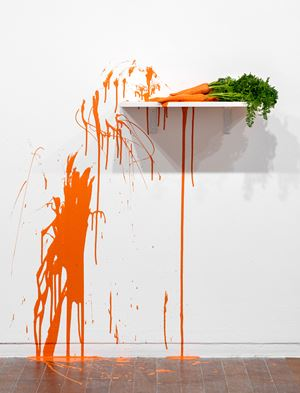 14 Carrots by Jim Lambie contemporary artwork