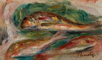 Rougets - Fragment by Pierre-Auguste Renoir contemporary artwork painting, works on paper