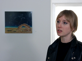 Anj Smith talks about her paintings in 'The Land We Live In – The Land We Left Behind'