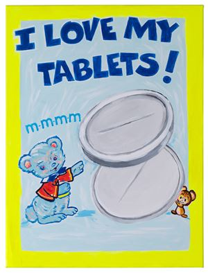 I Love My Tablets! by Magda Archer contemporary artwork