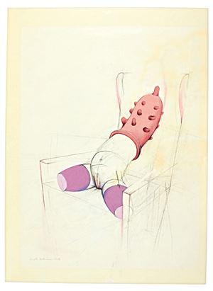 Übergestülpt – Boris-Zyklus (Slipped over – Boris Cycle) by Renate Bertlmann contemporary artwork