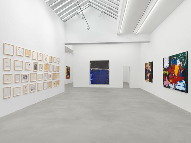 Exhibition view: Joe Bradley, Sub Ek, Galerie Eva Presenhuber, Waldmannstrasse, Zurich, (12 September–31 October 2020). © Joe Bradley. Courtesy the artist and Galerie Eva Presenhuber, Zurich / New York. Photo: Stefan Altenburger Photography, Zurich.