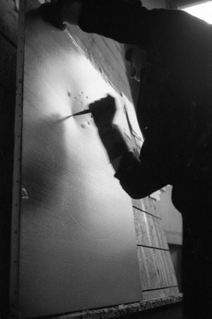 Lucio Fontana, The Sun, Milan (2) by Ugo Mulas contemporary artwork photography