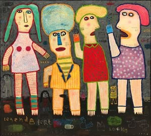 The Legend of Frienship by Indra Dodi contemporary artwork