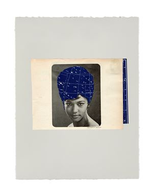 Lyra night sky styled in NYC by Lorna Simpson contemporary artwork