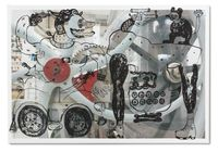 The Hunter with Upside Down Creatures in the Machine by Heri Dono contemporary artwork print