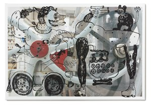 The Hunter with Upside Down Creatures in the Machine by Heri Dono contemporary artwork