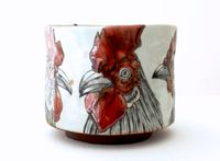 Teacup_Fighter's Head by Masako Inoue contemporary artwork sculpture, ceramics